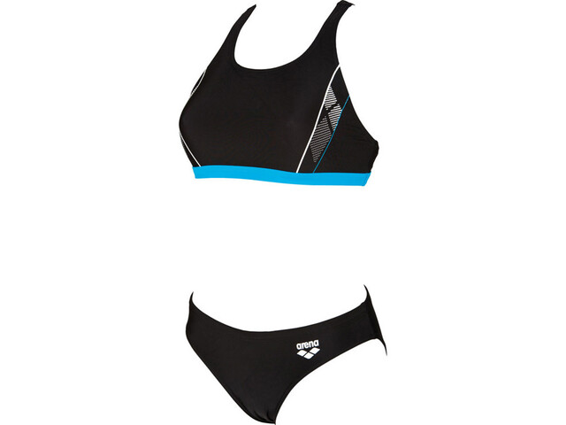 arena Skid Two Pieces Swimsuit Damen black-turquoise-white